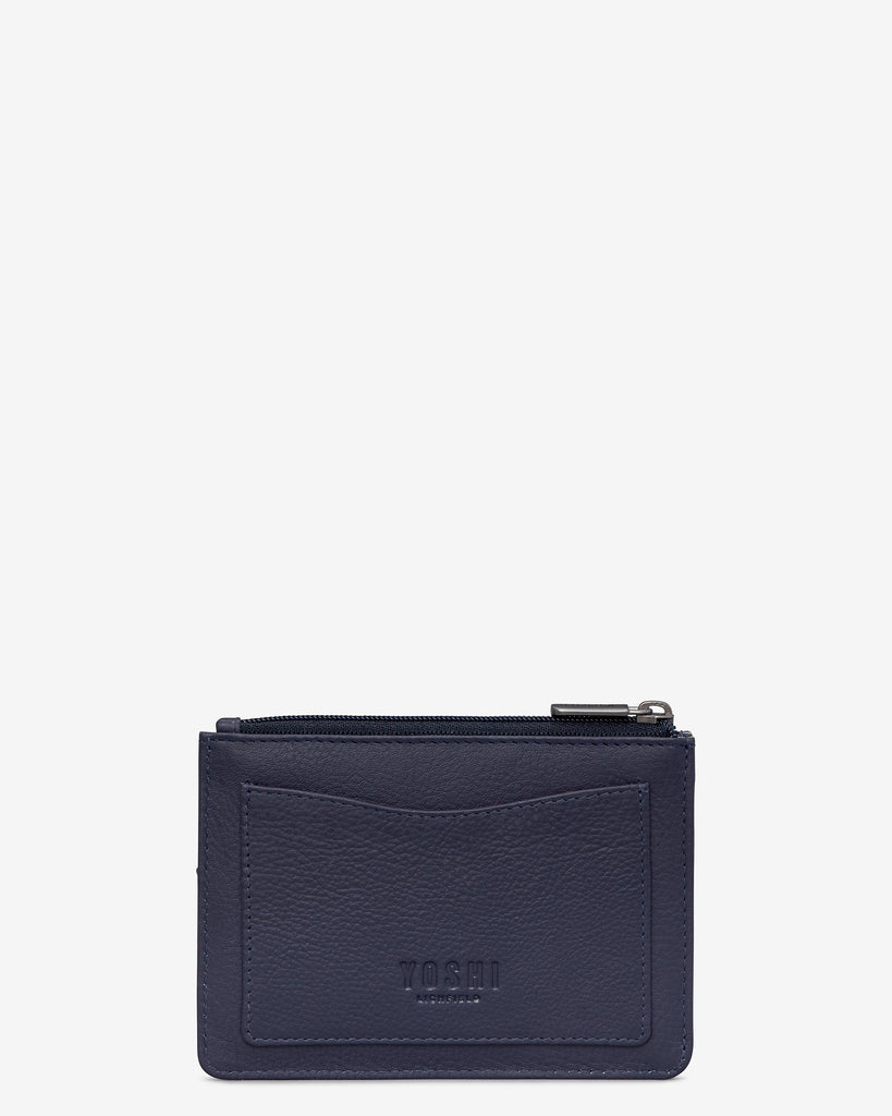 Bookworm Cookbook Navy Leather Franklin Purse - Yoshi