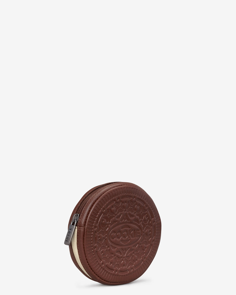 Cookie Biscuit Zip Round Leather Purse -  - Yoshi