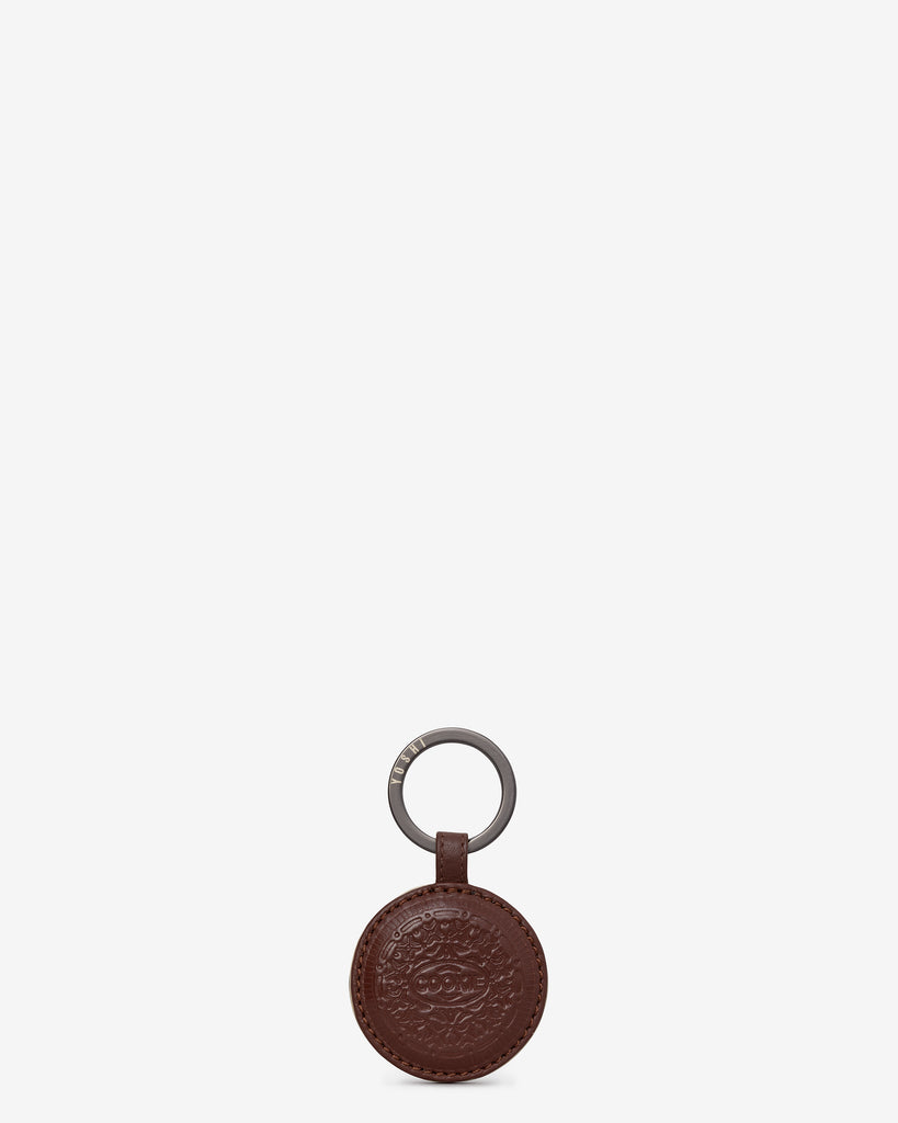 Cookie Biscuit Leather Keyring - Brown - Yoshi