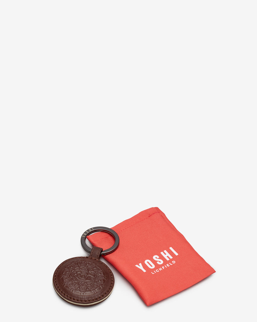 Cookie Biscuit Leather Keyring -  - Yoshi