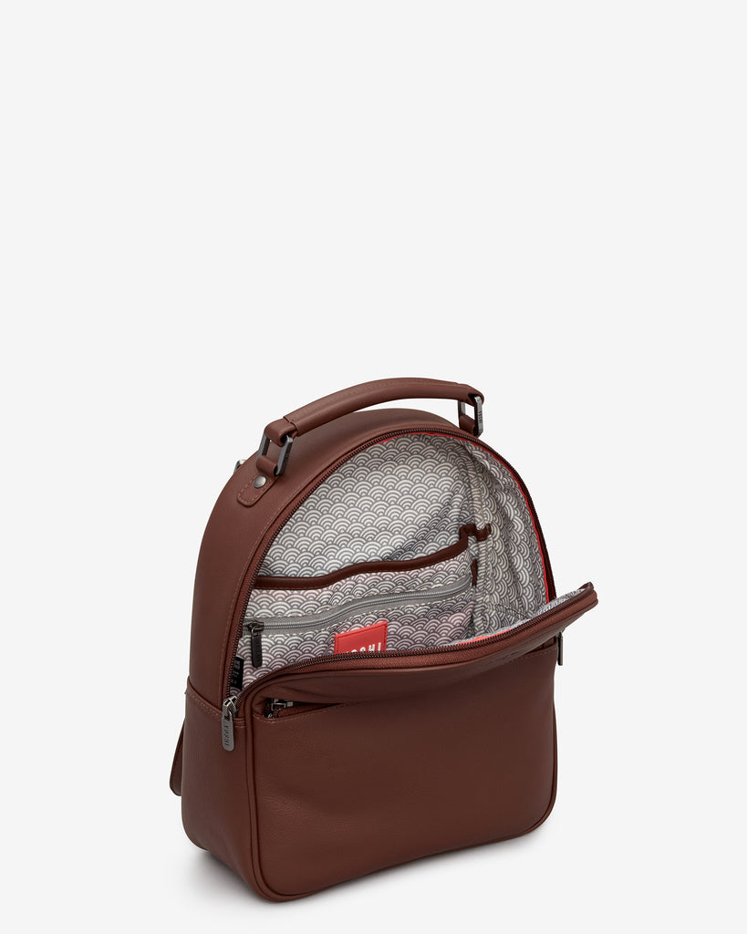 Cooper Brown Leather Backpack -  - Yoshi