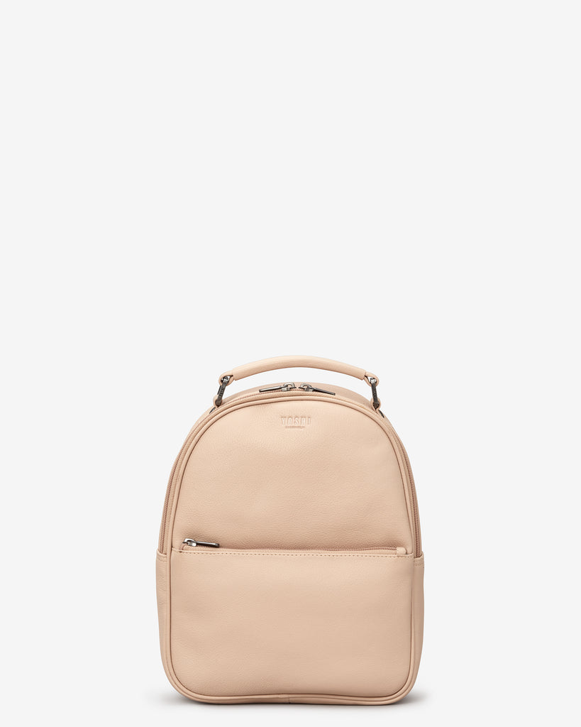 Cooper Frappe Leather Backpack Bag - Yoshi