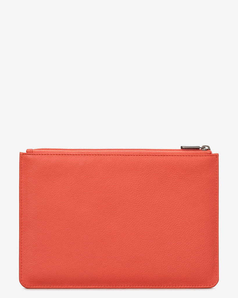 Coral Leather Brooklyn Pouch -  - Yoshi