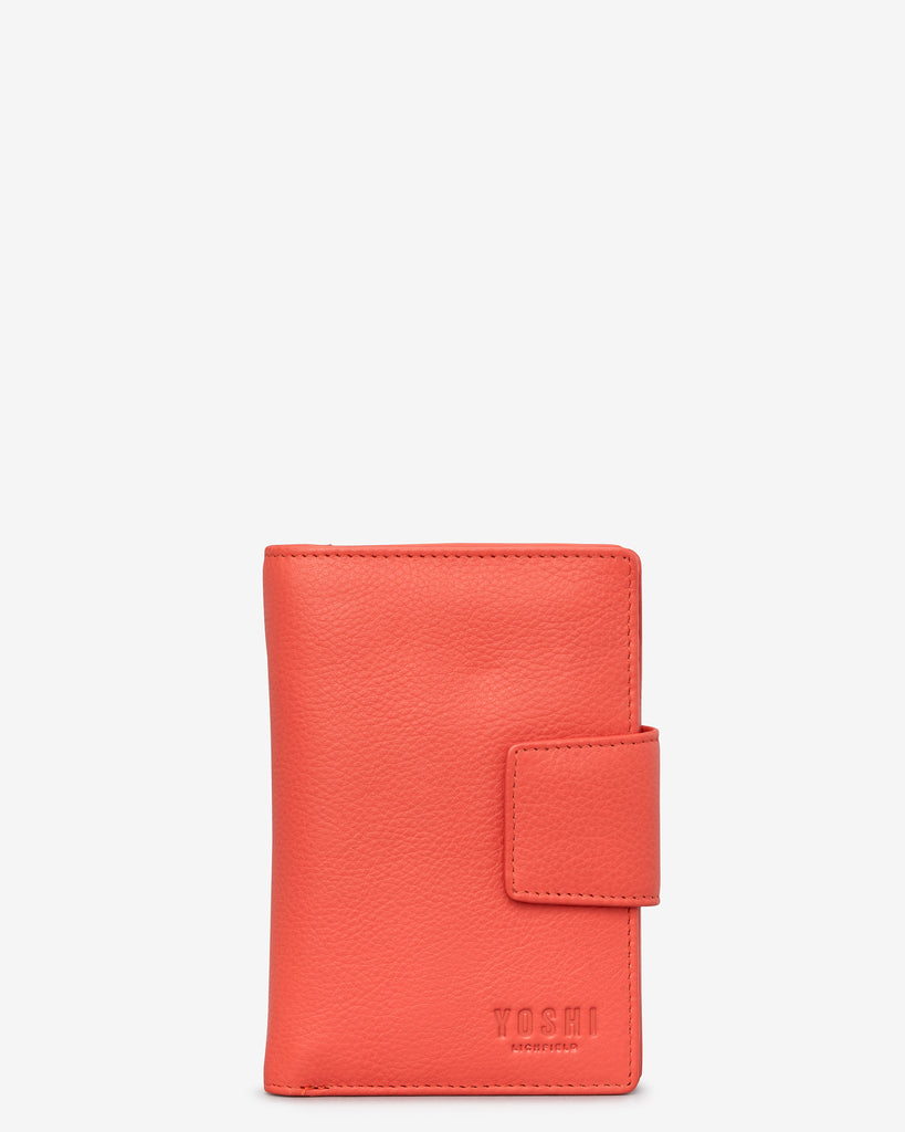 Coral Leather Anson Purse - Coral - Yoshi