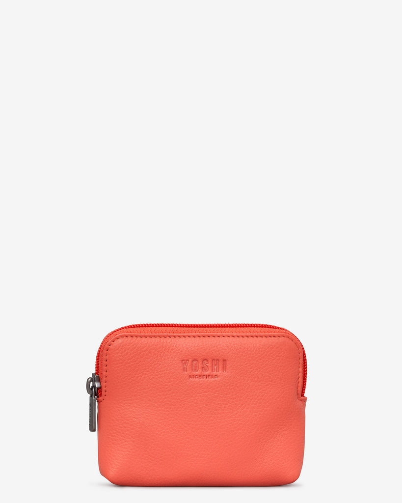 Coral Leather Chatham Purse - Coral - Yoshi