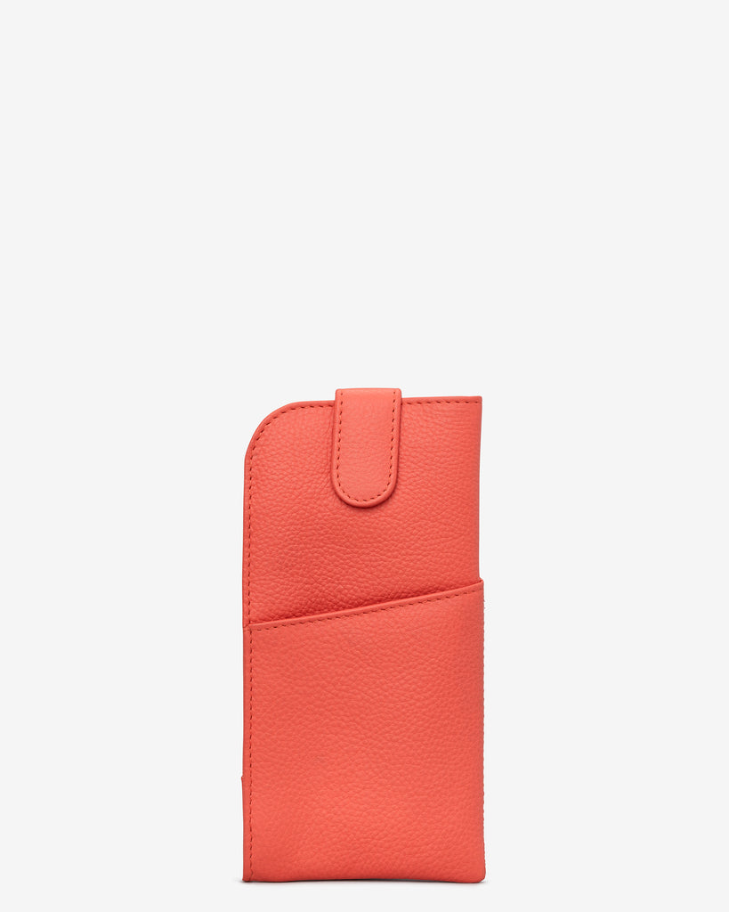 Coral Leather Chilton Glasses Case - Coral - Yoshi