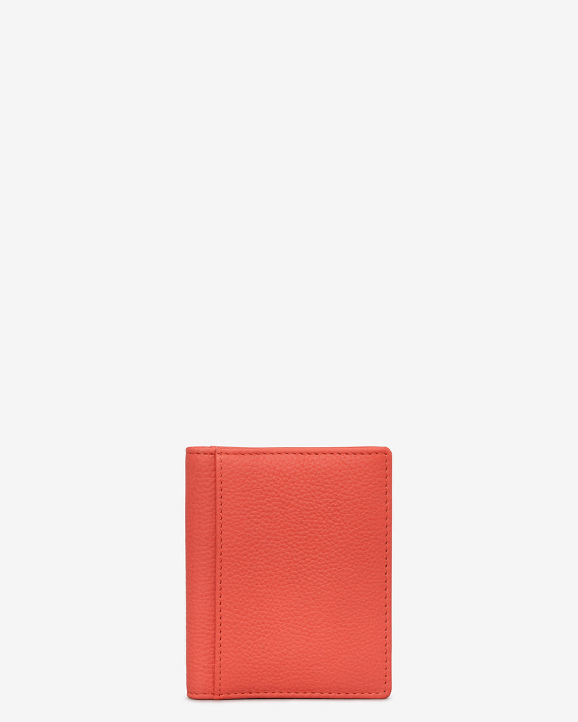 Coral Leather Steinway Card Holder - Coral - Yoshi