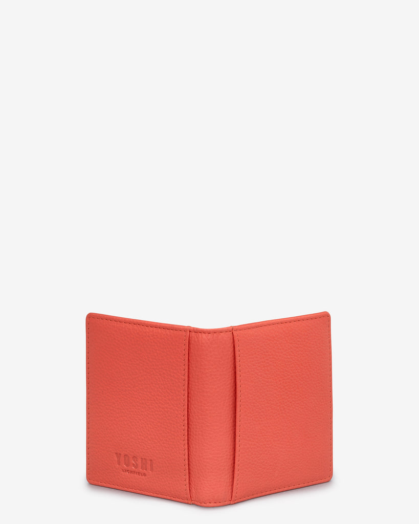 Coral Leather Steinway Card Holder -  - Yoshi