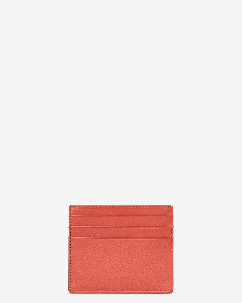 Coral Leather Wooster Card Holder -  - Yoshi
