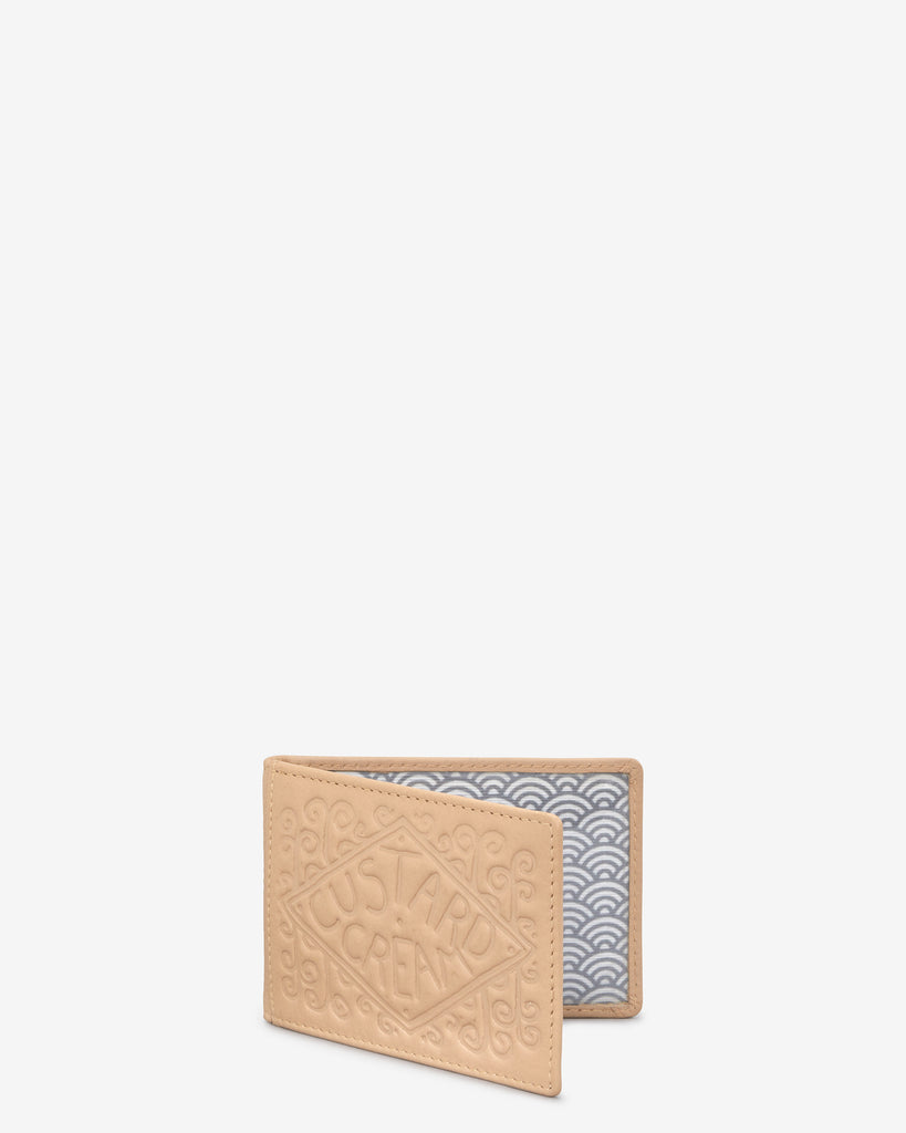 Custard Cream Biscuit Leather Travel Pass Holder -  - Yoshi