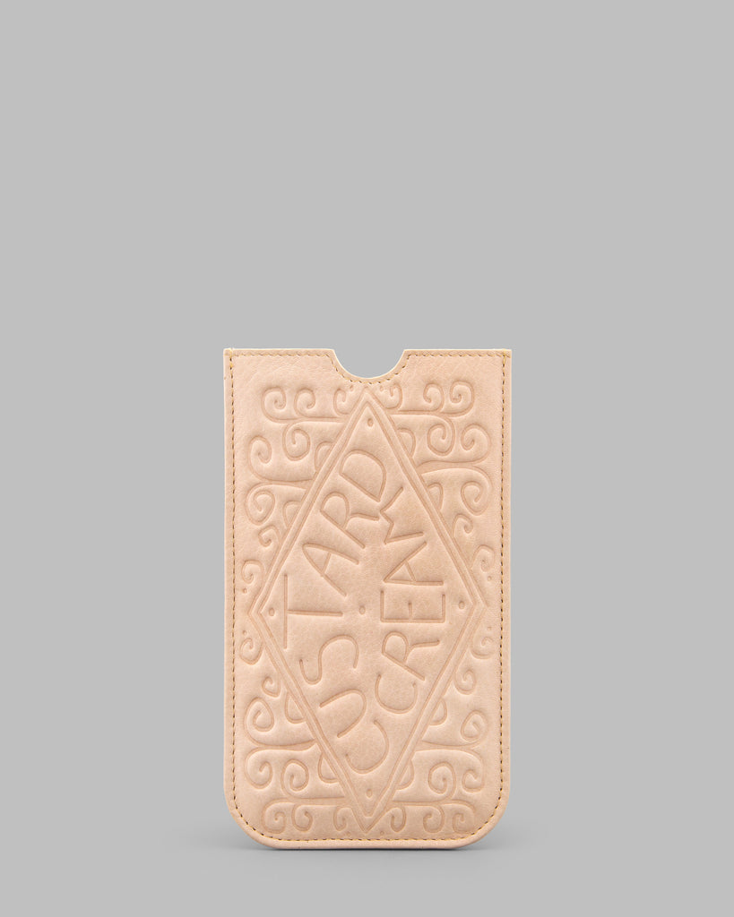 Custard Cream Leather Phone Case a