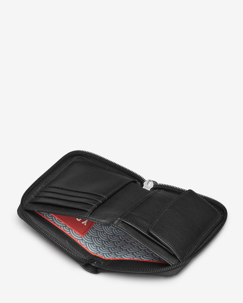 Black Leather Dawson Purse - Yoshi