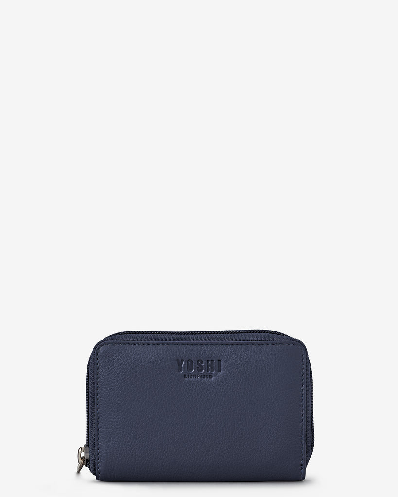 Navy Leather Dawson Purse - Yoshi