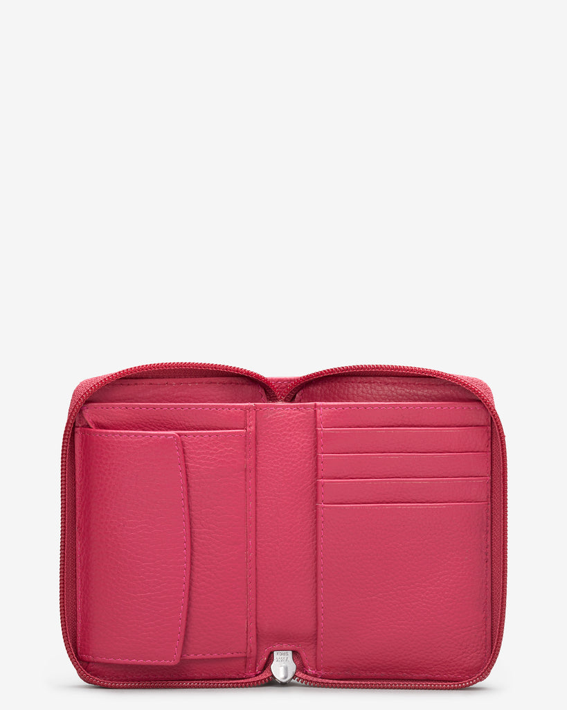 Raspberry Leather Dawson Purse - Yoshi