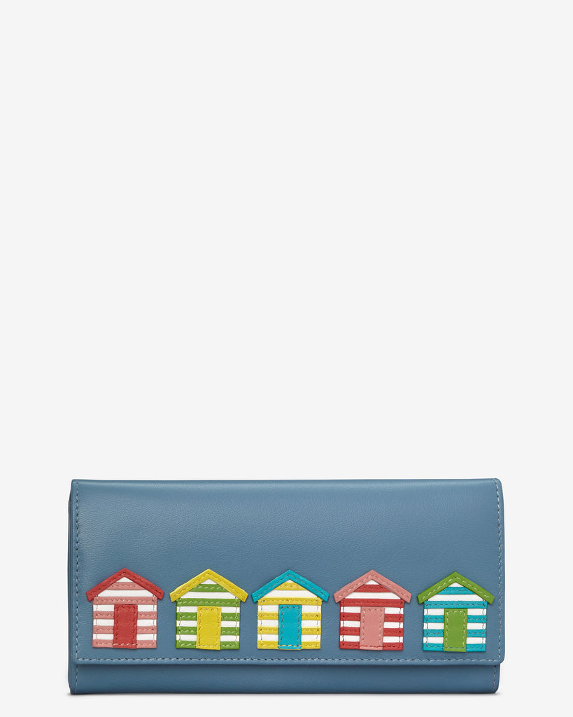 Day At The Seaside Leather Matinee Purse - Blue - Y by Yoshi