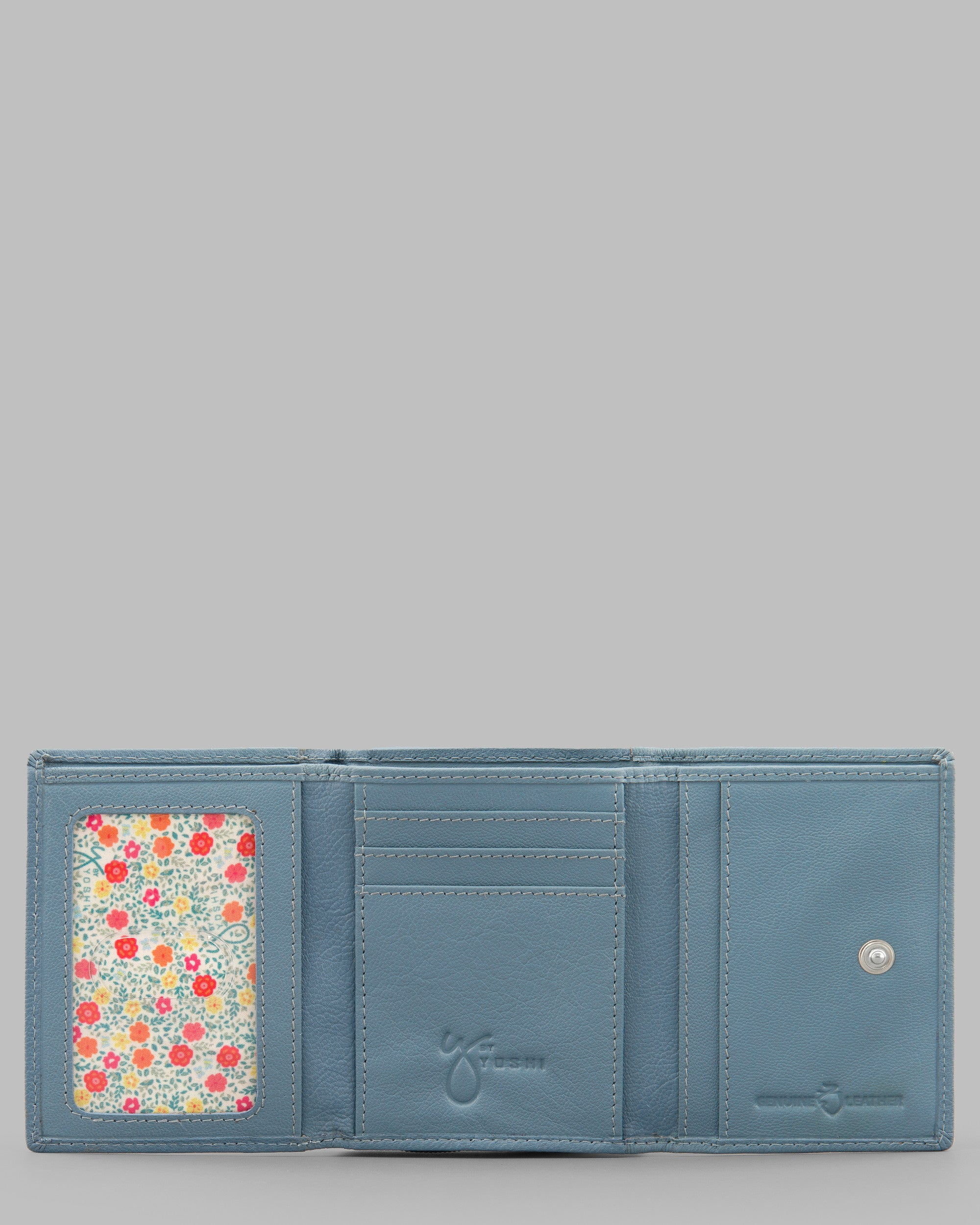 00f52c3fd81b Day At The Seaside Blue Leather Zip Around Purse by Yoshi