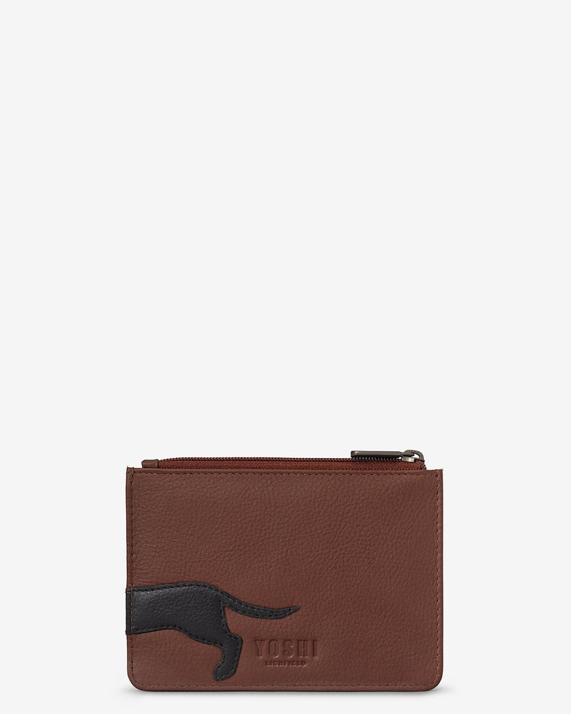 Delilah The Dachshund Brown Leather Franklin Purse - Yoshi
