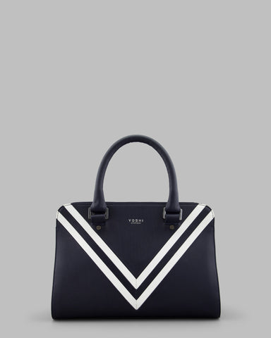 Deuce Navy Leather Tote Bag a