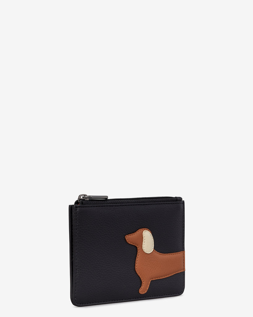 Digby the Dachshund Black Leather Franklin Purse -  - Yoshi