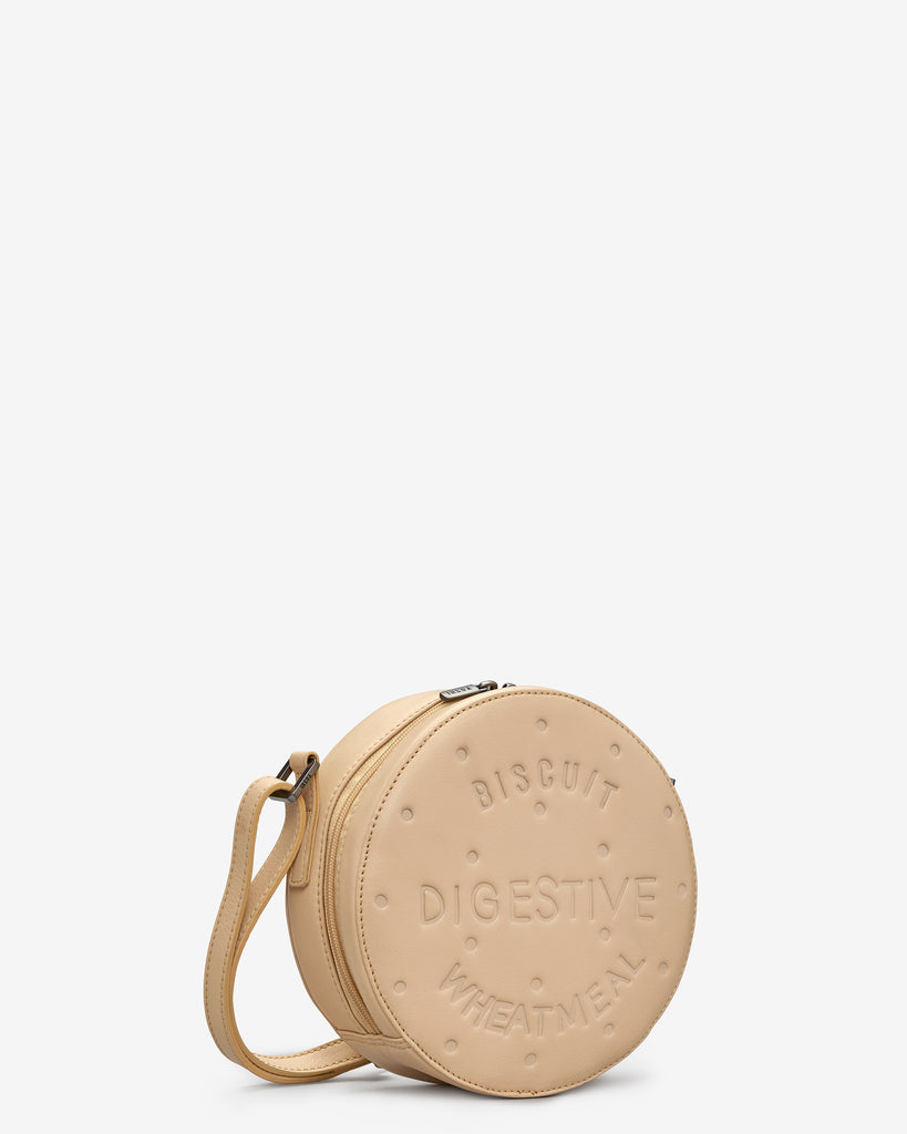 Digestive Biscuit Leather Cross Body Bag