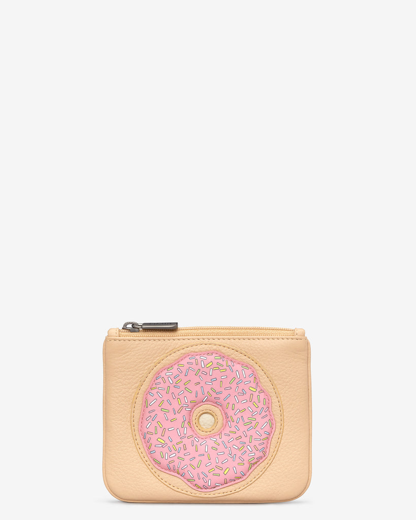 Donut Leather Zip Top Purse - Biscuit - Yoshi