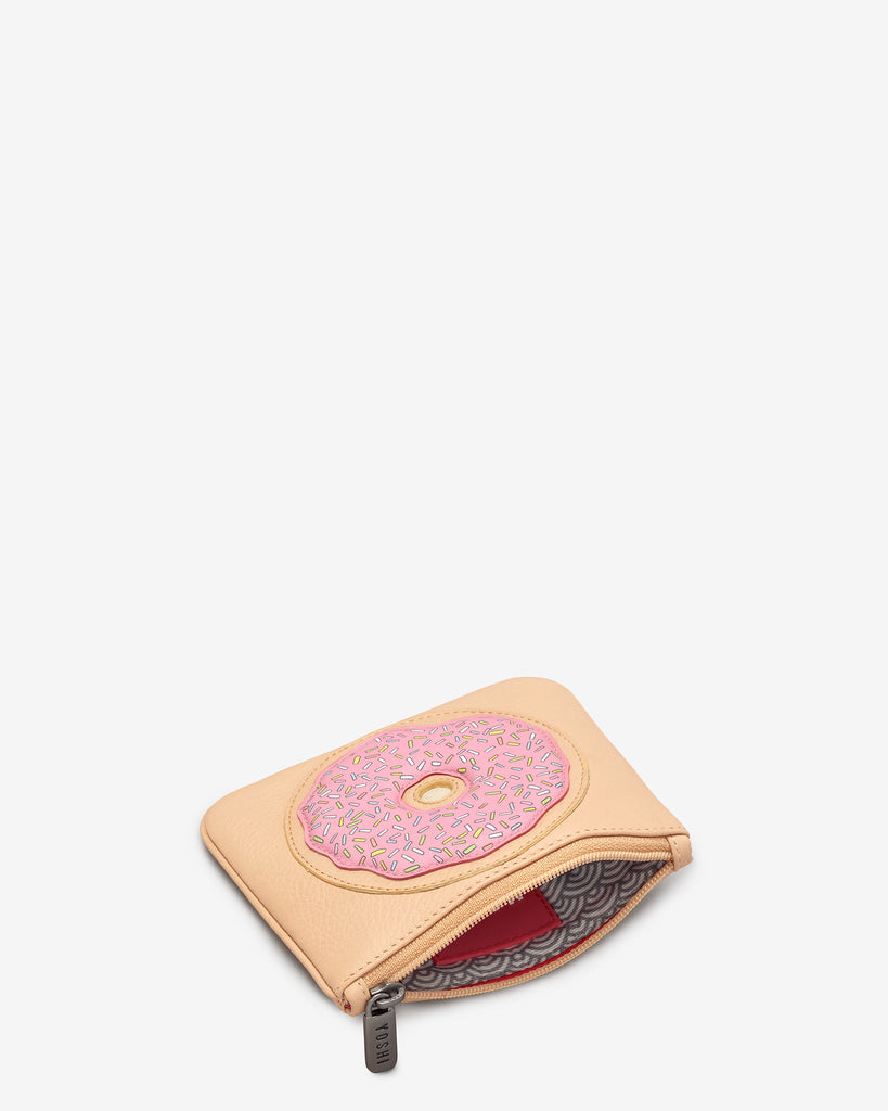Donut Leather Zip Top Purse -  - Yoshi