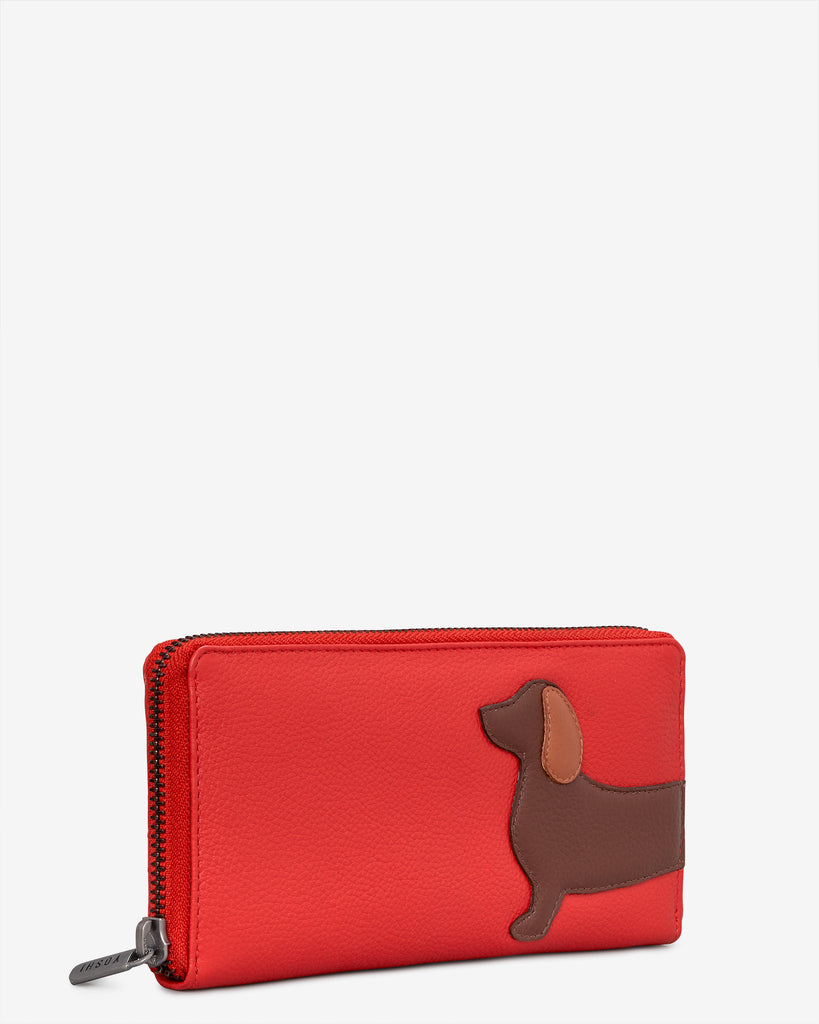 Dottie The Dachshund Red Leather Baxter Purse -  - Yoshi