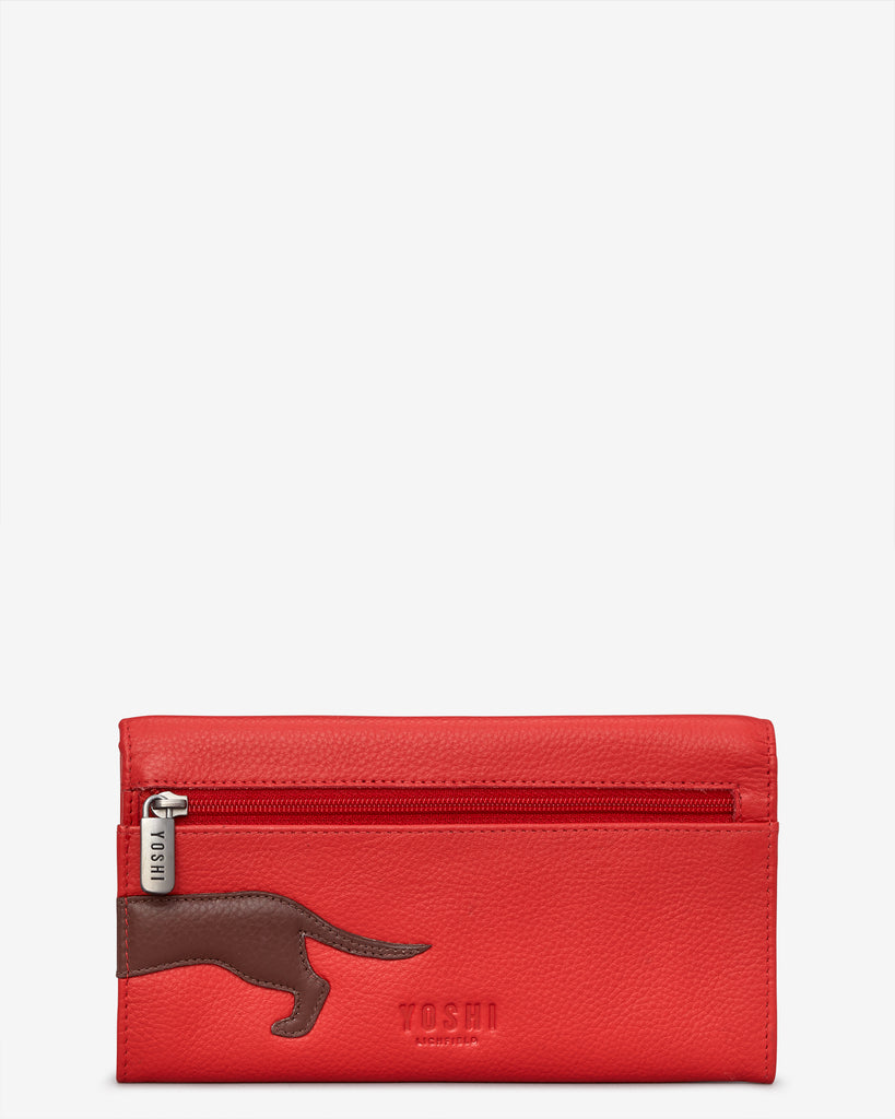 Dottie the Dachshund Red Leather Hudson Purse -  - Yoshi