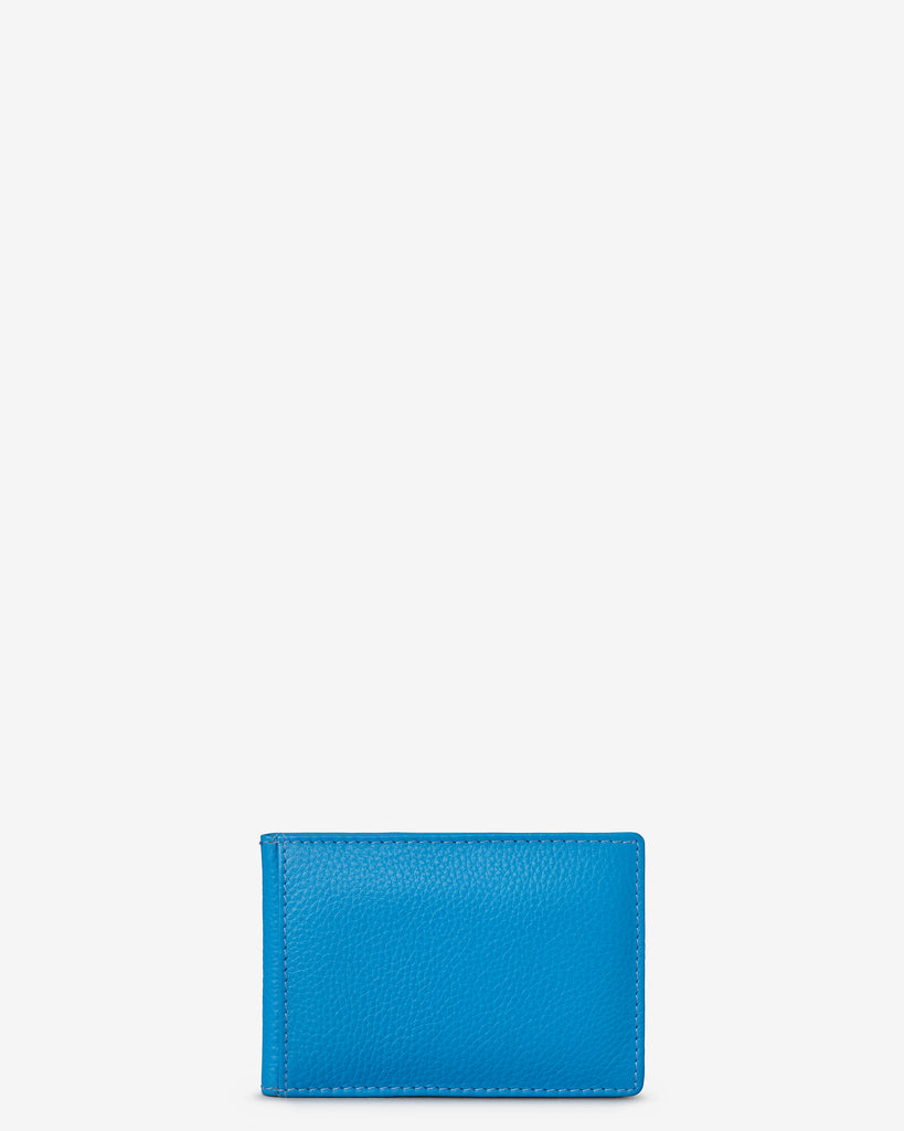 Cobalt Blue Leather Duke Travel Pass Holder - Yoshi