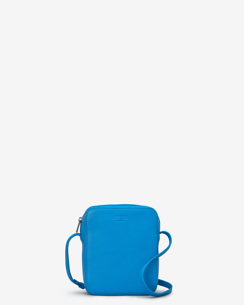 Dylan Cobalt Blue Leather Cross Body Bag - Yoshi