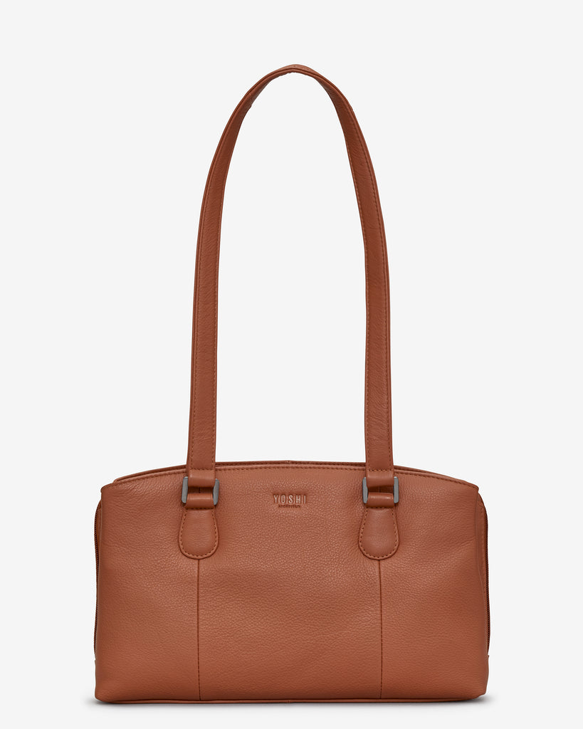 Ealing Tan Leather Shoulder Bag - Tan - Yoshi