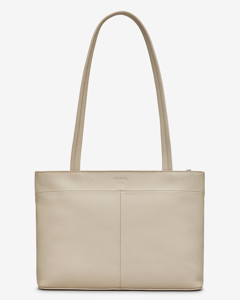 English Harbour Cream Leather Shoulder Bag -  - Yoshi