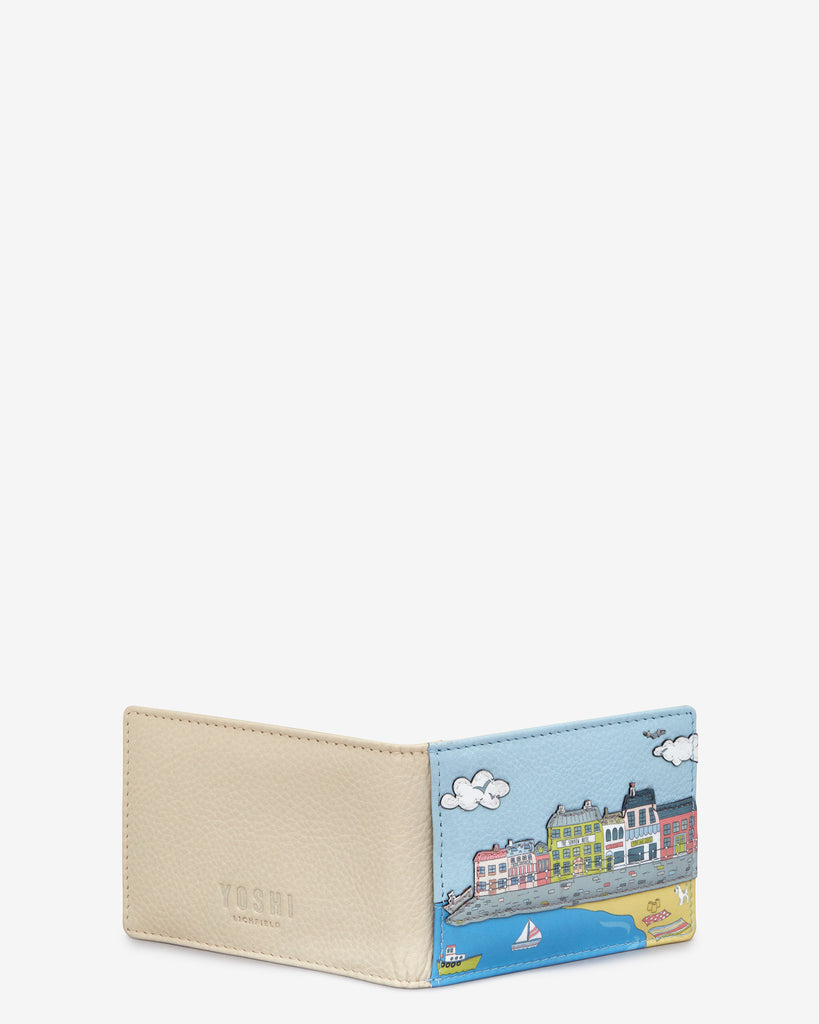 English Harbour Cream Leather Travel Pass Holder -  - Yoshi