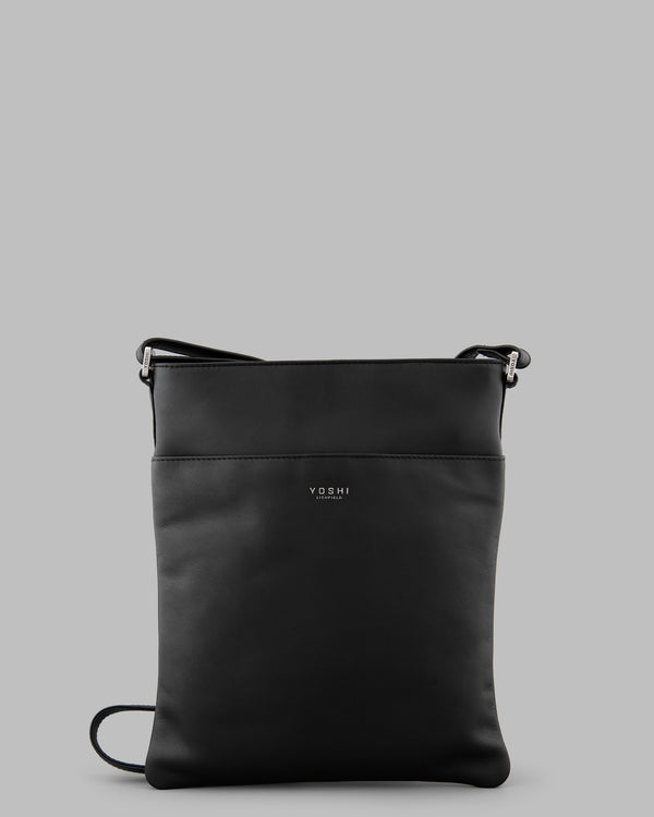 Farringdon Black Leather Cross Body Bag A