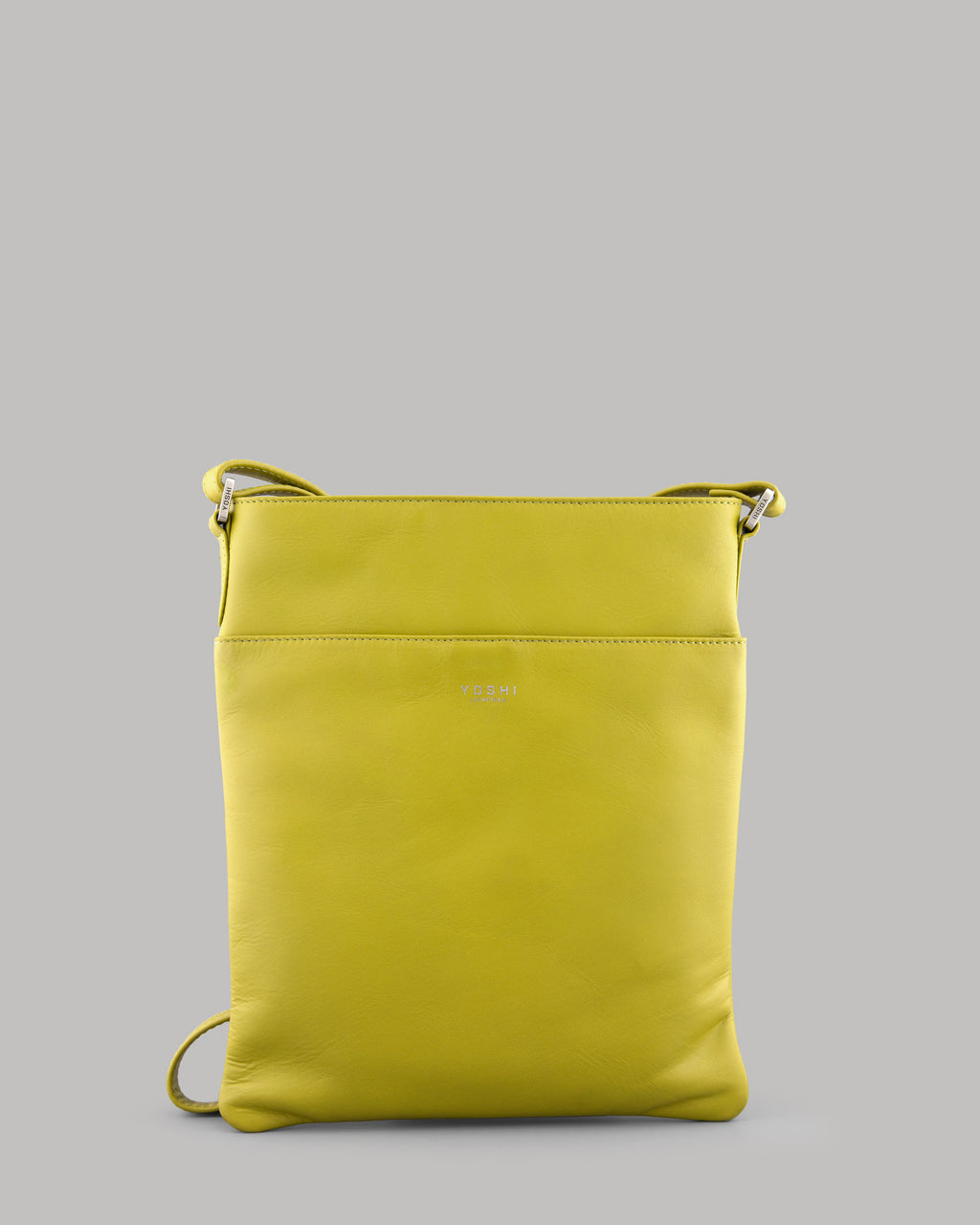 Farringdon Lunar Avocado Green Leather Cross Body Bag For Ladies
