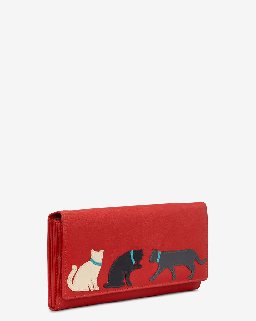 Feline Friends Red Leather Matinee Purse -  - Y by Yoshi