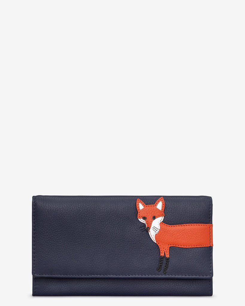 Fergus The Fox Navy Leather Hudson Purse - Navy - Yoshi