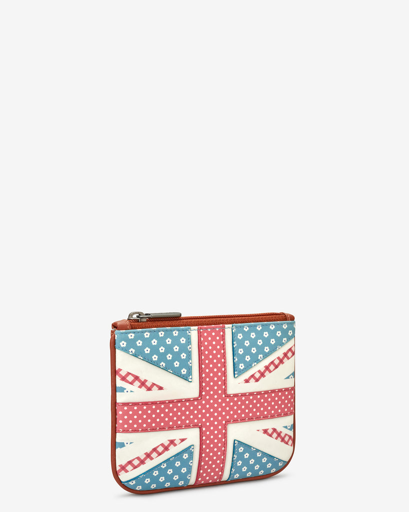 Union Jack Zip Top Leather Purse - Yoshi