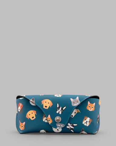 Four Legged Friends Leather Glasses Case a