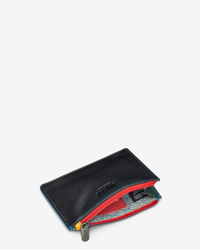 Black Multi Leather Franklin Purse - Yoshi