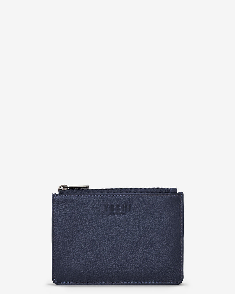 Navy Leather Franklin Purse - Yoshi