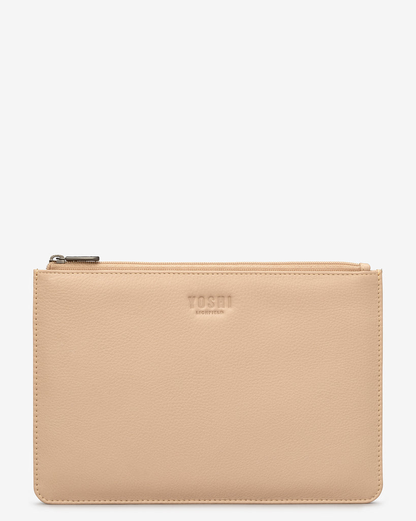 Frappe Leather Brooklyn Pouch - Frappe - Yoshi