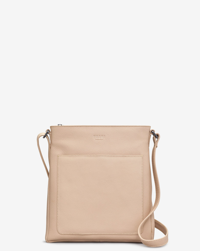 Bryant Frappe Leather Cross Body Bag - Yoshi