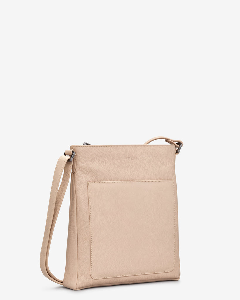 Bryant Frappe Leather Cross Body Bag -  - Yoshi