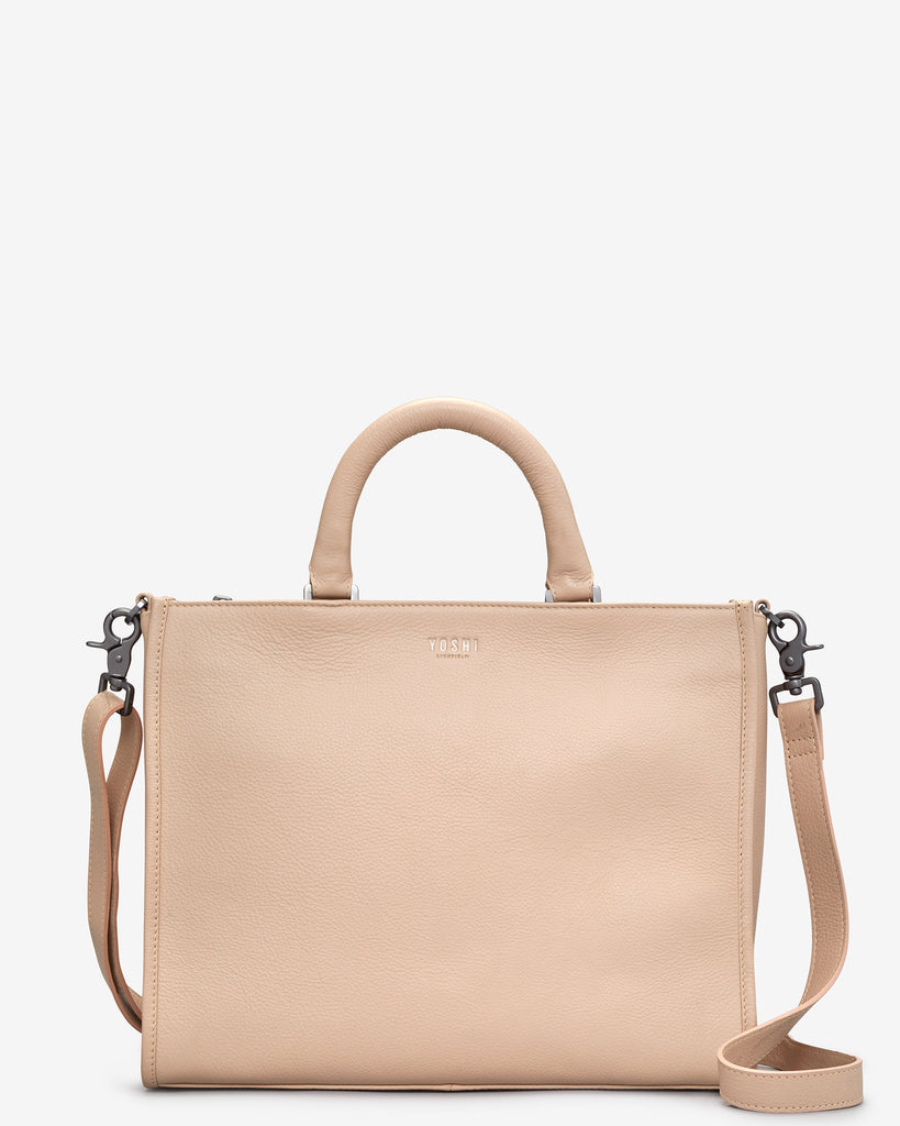 Harwood Frappe Leather Tote Bag - Yoshi