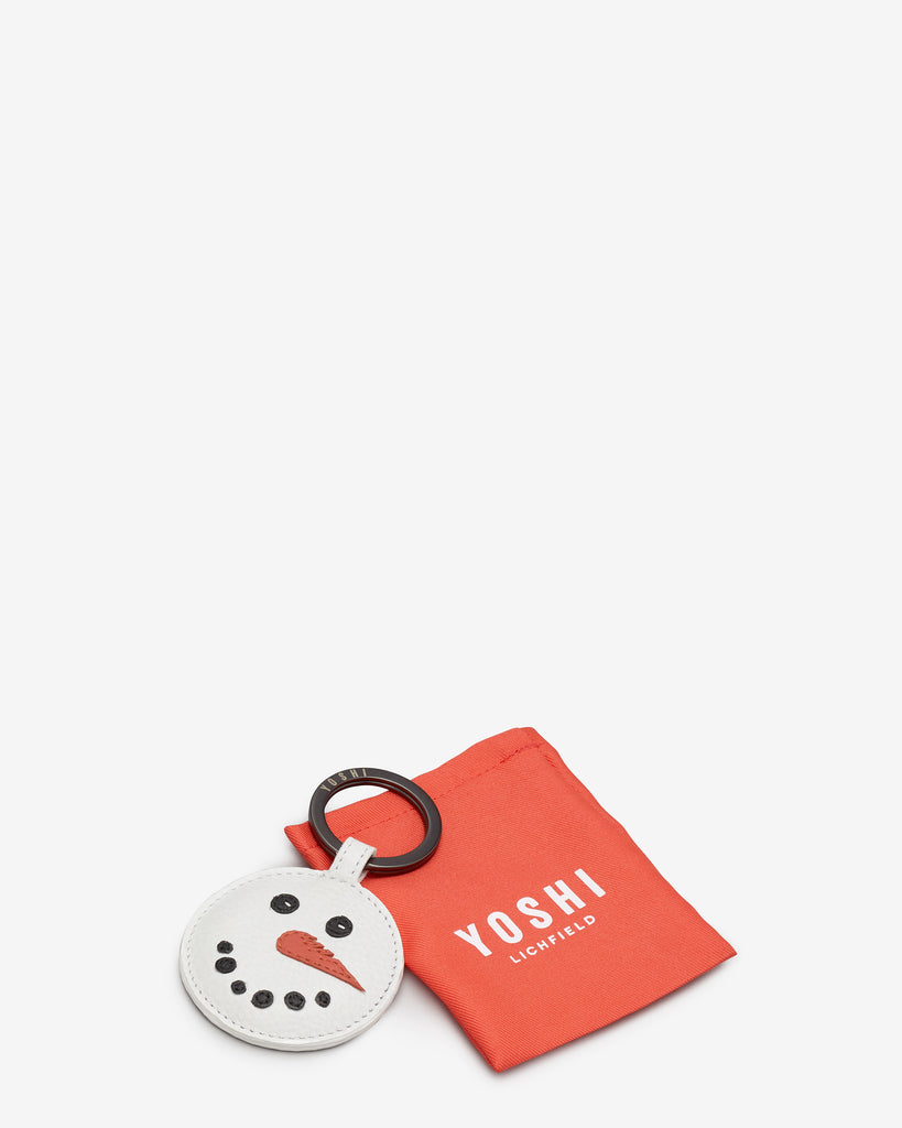 Frosty The Snowman White Leather Keyring -  - Yoshi