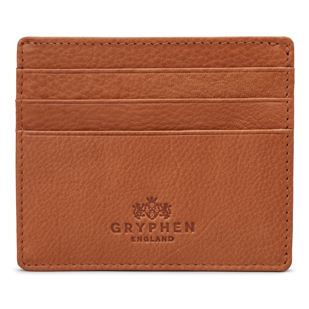 Tan Leather Slim Credit Card Holder Wallet By Gryphen - Yoshi
