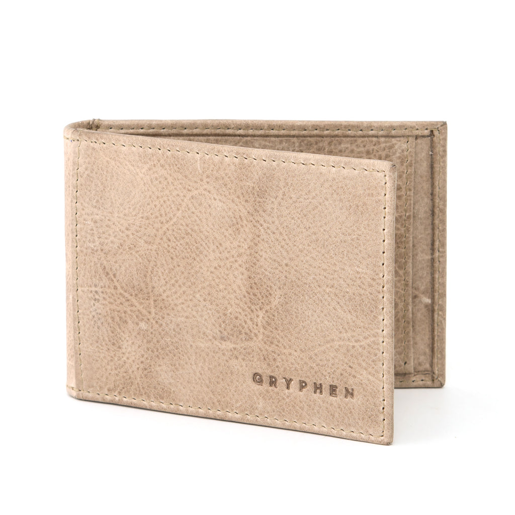Stone Grey Leather Money Clip Wallet By Gryphen