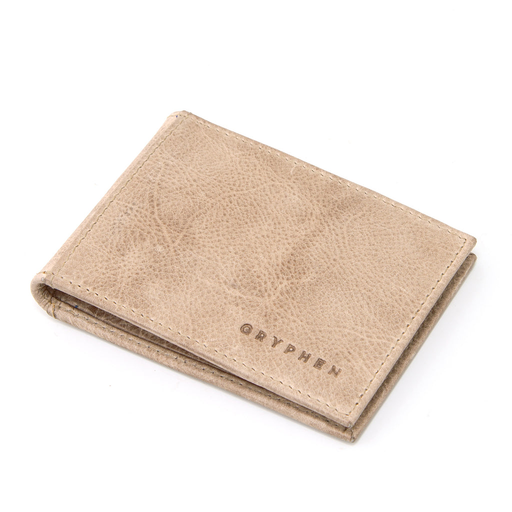 Two Fold Stone Leather Money Clip Wallet by Gryphen
