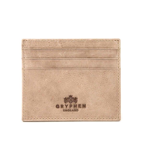 Stone Grey Slim Credit Card Holder Wallet By Gryphen